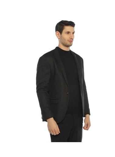 Comienzo Slim Fit Blazer Ceket Füme